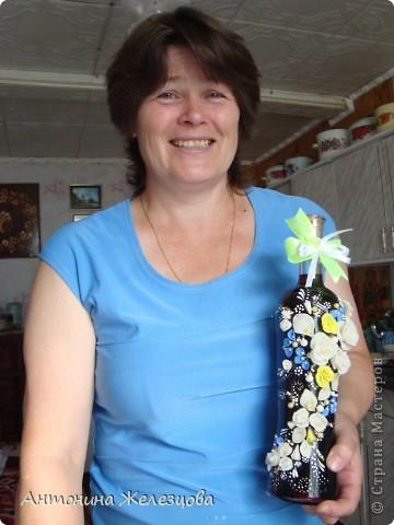 Подарки в День рождения сестры и снохи. Обе родились в начале августа. Подарочные бутылочки готовились одновременно. фото 12