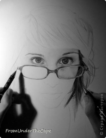 Первая стадия портрета. фото 3