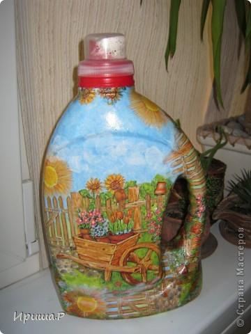 Сколько таких бутылок ушло на мусорку ((((( А теперь всех предупредила не выбрасывать...буду лейки всем делать!)) фото 1
