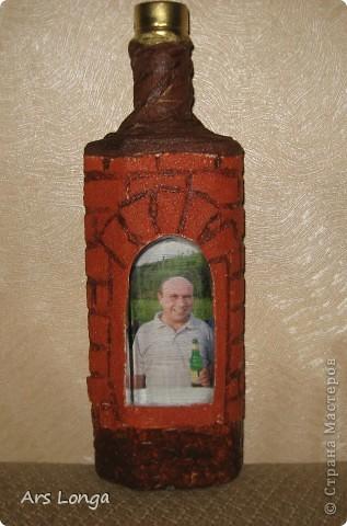 Бутылка в подарок мужчине. Спасибо за МК, Катюся. Кому интересно, вот ссылочка https://stranamasterov.ru/node/153839 .