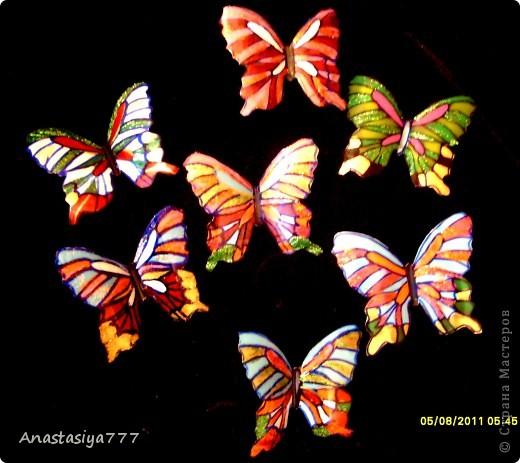 Эти полностью завершённые:)))   Уж очень хотелось бабочек из чего нить соорудить!!!!! вот результат большого хотения!!!:))))) фото 3