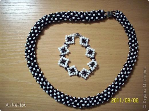 """комплект """"Королева"""" колье-галстук+браслет+кольцо  фото 3"""