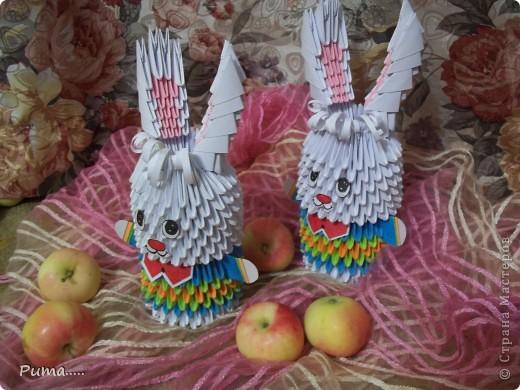 Зайцы (оригами)