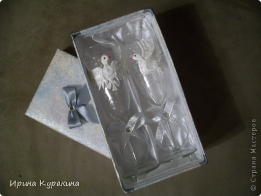 2 коробочка для свадебных бокалов фото 5
