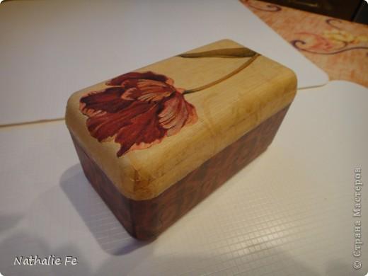 """Декупаж коробочки из-под конфет """"Ferrero rocher"""" фото 19"""
