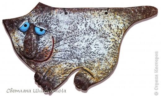"""Однажды я уже делала такого кота... Это повторюшка с сайта - """"Художественная керамика"""". Автора - Ирины Кугатовой. Она его назвала """"кот кавказской национальности"""" Этот дубль 2. Мне кажется этот симпатичнее первого. фото 1"""