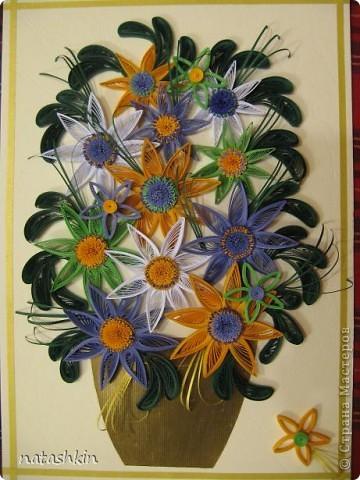 Здравствуйте, уважаемые мастерицы  Страны! Моя картинка  сделана  по  мотивам цветочной  фантазии MaryBond. Спасибо  ей  за  вдохновение. фото 1