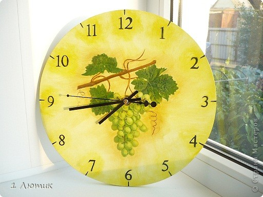 Часы на кухню фото 1