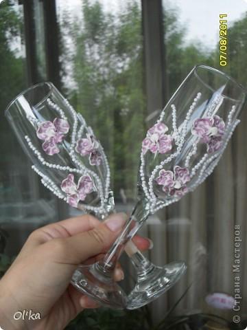 Хочу сказать СПАСИБО своей вдохновительнице - Валентинке Порчелли. Это её орхидеи вдохновили меня на эту работу.  фото 1