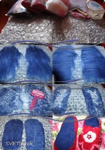Ещё одни милахи) Бабуля увидев мои розовые тапочки, разохалась, что 100% шерсть, полезно для ног, как бы ей такие) Легко! фото 2