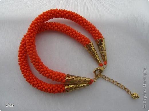 """""""Оранжевое настроение"""" двойной браслет. фото 1"""