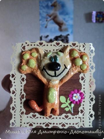 Вдохновилась на эту работу вот здесь http://stranamasterov.ru/node/150098?c=favorite . И вот, что получилось у меня! Цветочек, рамочка и листочек - это Ваш подарок, мои друзья! Улыбнемся вместе с этим забавным Рыжиком и понесем хорошее настроение дальше! фото 4