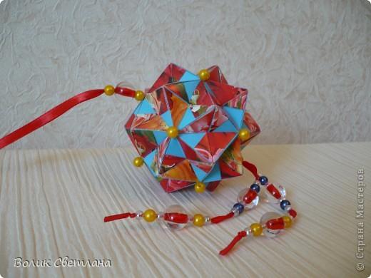 Дорогие мастерицы, продолжаю полнение в Глобальной коллекции. Все кусудамы из книги Tomoko Fuse - Floral Globe Origami  фото 4