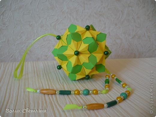 Дорогие мастерицы, продолжаю полнение в Глобальной коллекции. Все кусудамы из книги Tomoko Fuse - Floral Globe Origami  фото 7
