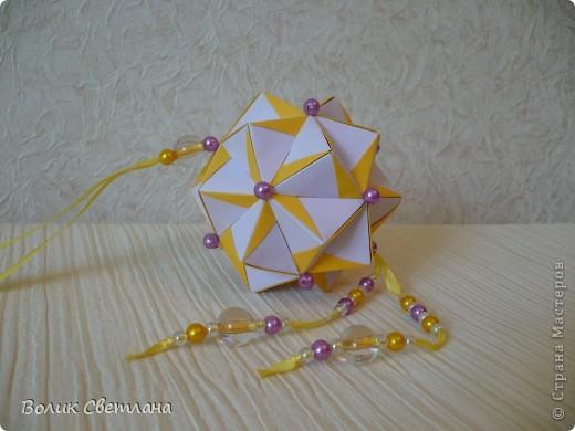Дорогие мастерицы, продолжаю полнение в Глобальной коллекции. Все кусудамы из книги Tomoko Fuse - Floral Globe Origami  фото 2