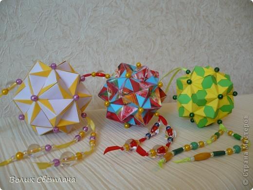 Дорогие мастерицы, продолжаю полнение в Глобальной коллекции. Все кусудамы из книги Tomoko Fuse - Floral Globe Origami  фото 1