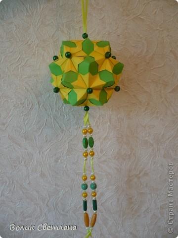 Дорогие мастерицы, продолжаю полнение в Глобальной коллекции. Все кусудамы из книги Tomoko Fuse - Floral Globe Origami  фото 9