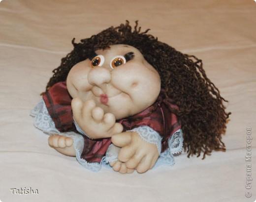 """Огромное спасибо Pawy,  Ликме и всем, кто дарит свое мастерство и идеи. Вот и я попробовала сделать свою первую куклу """"на удачу"""". фото 1"""