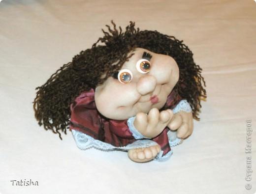 """Огромное спасибо Pawy,  Ликме и всем, кто дарит свое мастерство и идеи. Вот и я попробовала сделать свою первую куклу """"на удачу"""". фото 2"""