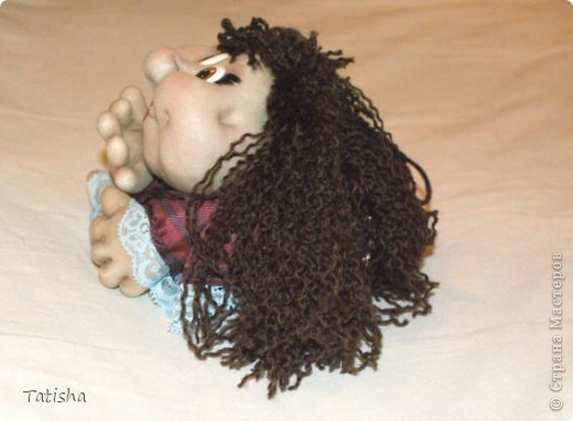 """Огромное спасибо Pawy,  Ликме и всем, кто дарит свое мастерство и идеи. Вот и я попробовала сделать свою первую куклу """"на удачу"""". фото 3"""