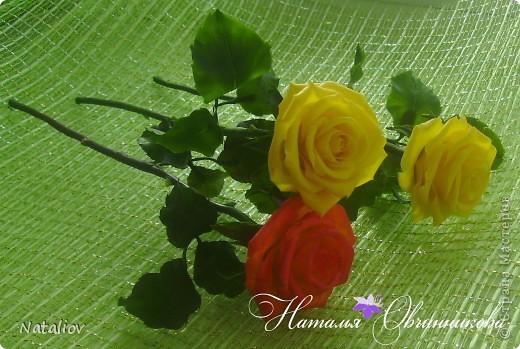 Розы лепила из глины Флер фото 1