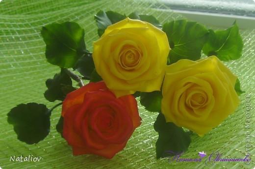 Розы лепила из глины Флер фото 2