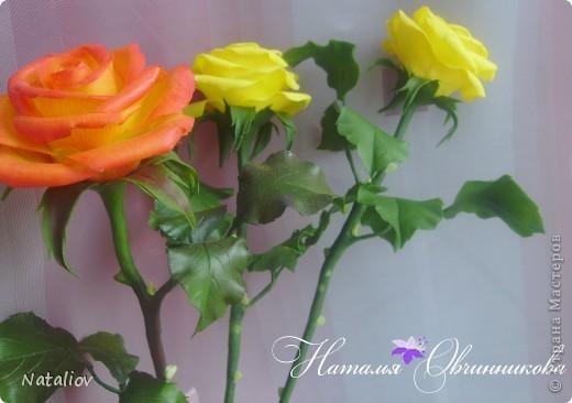 Розы лепила из глины Флер фото 3