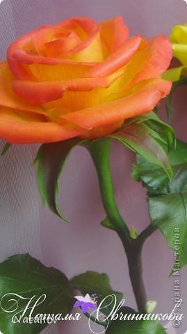 Розы лепила из глины Флер фото 4