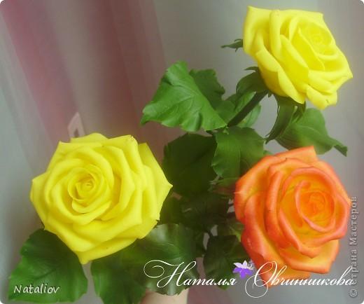 Розы лепила из глины Флер фото 5
