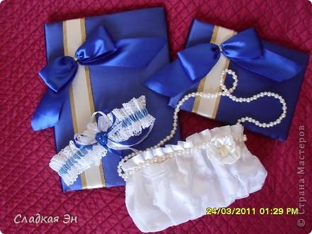 В качестве основного цвета свадьбы был выбран синий цвет. фото 1