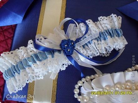 В качестве основного цвета свадьбы был выбран синий цвет. фото 5