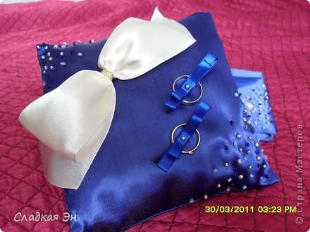 В качестве основного цвета свадьбы был выбран синий цвет. фото 6