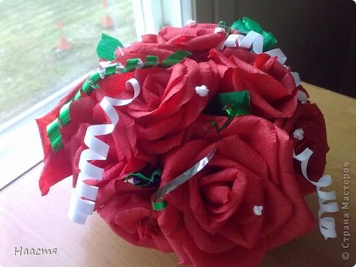 Розы-гофрированная бумага. фото 1