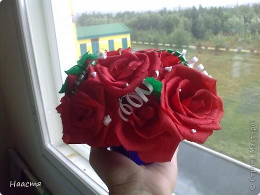 Розы-гофрированная бумага. фото 2