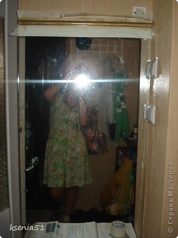 Фотографировала лежа ( в смысле не я лежа, а зеркало :))), потому что когда в коридоре закрепим, оно не помещается в объектив полностью фото 2