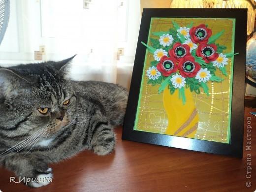 ромашки и маки Это моя первая картина такого объёма. Спасибо большое Ольге Геннадьевне Ольшак за идею маков и вазы, Ларисе Засадной за ромашки! фото 3