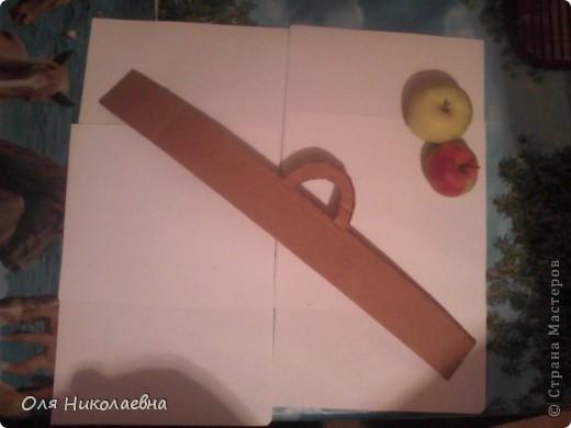 Сестрёнке на день рождения, дарю поднос в яблоках, изготовленный из картона. фото 3