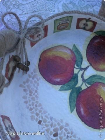 Сестрёнке на день рождения, дарю поднос в яблоках, изготовленный из картона. фото 5