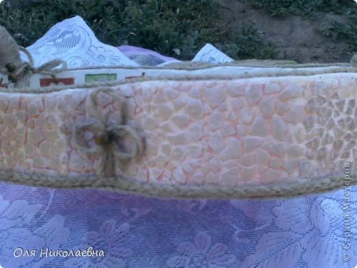 Сестрёнке на день рождения, дарю поднос в яблоках, изготовленный из картона. фото 6