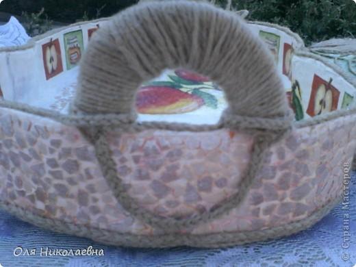 Сестрёнке на день рождения, дарю поднос в яблоках, изготовленный из картона. фото 7