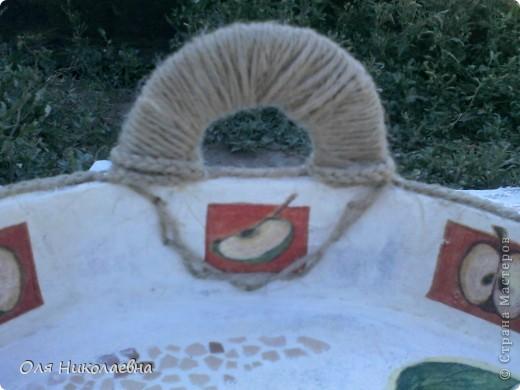 Сестрёнке на день рождения, дарю поднос в яблоках, изготовленный из картона. фото 8