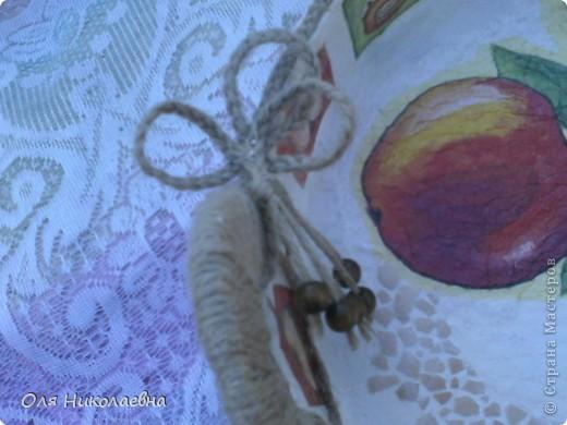 Сестрёнке на день рождения, дарю поднос в яблоках, изготовленный из картона. фото 10