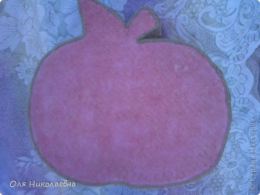 Сестрёнке на день рождения, дарю поднос в яблоках, изготовленный из картона. фото 12