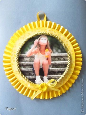 """Проводили мы тут в нашей деревне конкурс на лучшую детскую фотографию. Конкурс носил название """"Мое солнышко"""". Ну вот и пришло в голову сделать для победителя медаль-солнышко. фото 1"""