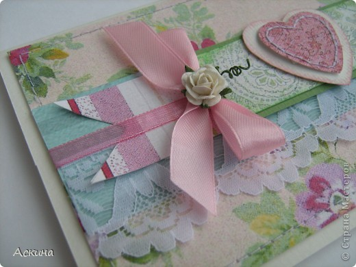Открытка на день рождения свекрови. Идею-раскладки открытки подсмотрела у скрапмастерицы Мелисы Франчес, жаль,что не могу найти ссылку на ее блог... фото 2