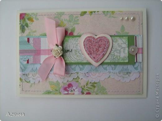 Открытка на день рождения свекрови. Идею-раскладки открытки подсмотрела у скрапмастерицы Мелисы Франчес, жаль,что не могу найти ссылку на ее блог... фото 1
