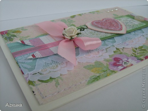 Открытка на день рождения свекрови. Идею-раскладки открытки подсмотрела у скрапмастерицы Мелисы Франчес, жаль,что не могу найти ссылку на ее блог... фото 4