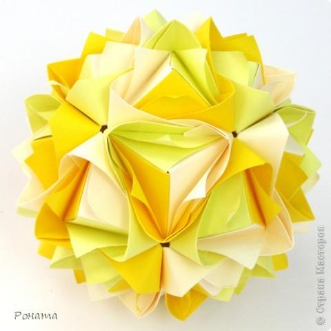 Всем привет! Продолжаю показ кусудам Марии Синайской :)  Модель: Lotus crown Автор: Maria Sinayskaya 30 модулей. Бумага офисная 7*7 см. Итог 8,5 см.  Без клея. Диаграмма здесь - http://www.flickr.com/photos/51642560@N02/5293158076/in/photostream/  фото 4
