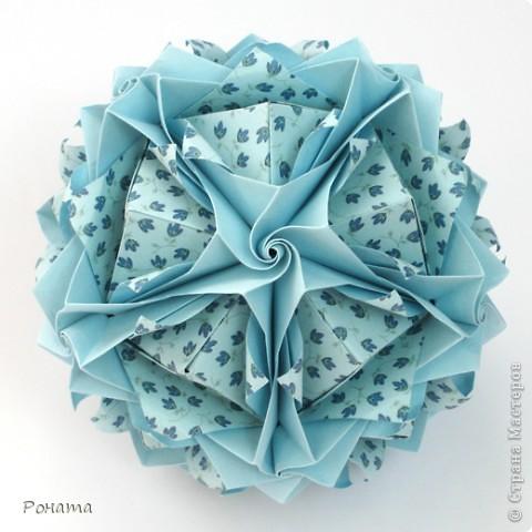Всем привет! Продолжаю показ кусудам Марии Синайской :)  Модель: Lotus crown Автор: Maria Sinayskaya 30 модулей. Бумага офисная 7*7 см. Итог 8,5 см.  Без клея. Диаграмма здесь - http://www.flickr.com/photos/51642560@N02/5293158076/in/photostream/  фото 8