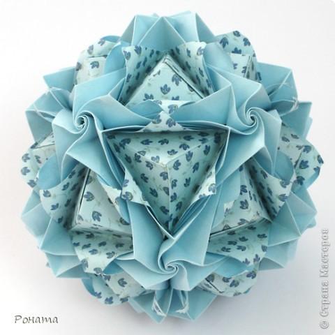 Всем привет! Продолжаю показ кусудам Марии Синайской :)  Модель: Lotus crown Автор: Maria Sinayskaya 30 модулей. Бумага офисная 7*7 см. Итог 8,5 см.  Без клея. Диаграмма здесь - http://www.flickr.com/photos/51642560@N02/5293158076/in/photostream/  фото 9